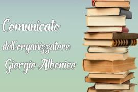 Comunicato dell'ideatore ed organizzatore del Premio – Giorgio Albonico