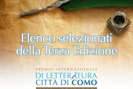 SELEZIONATI PREMIO CITTA' DI COMO – TERZA EDIZIONE 2016