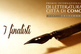 Finalisti della Terza Edizione del Premio Internazionale di Letteratura Città di Como