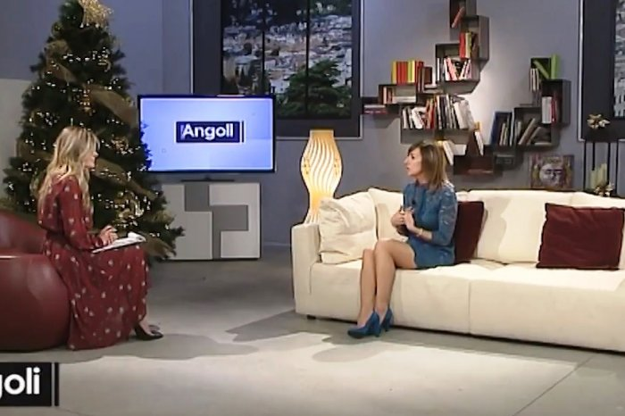 "Cristina Bellon ospite ad ""Angoli"" Expanding on TV"
