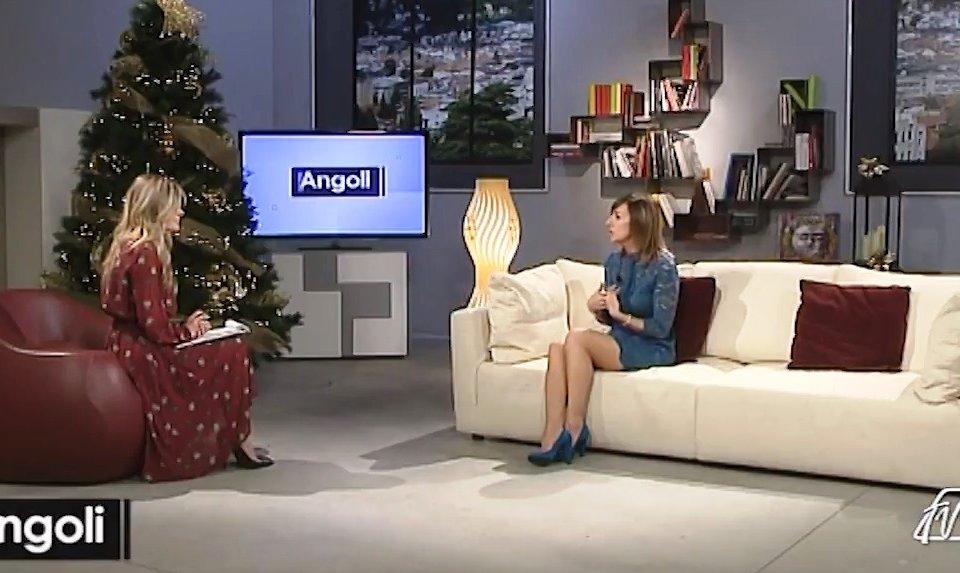 """Cristina Bellon ospite ad """"Angoli"""" su Espansione Tv"""