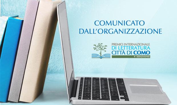Comunicato dall'Organizzazione Premio Città di Como