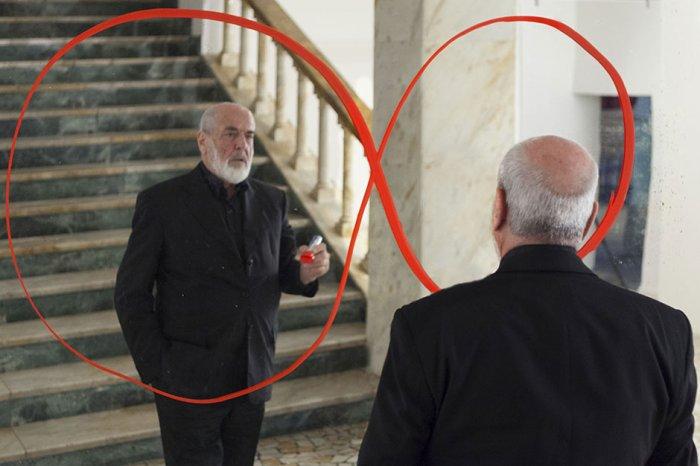 """Michelangelo Pistoletto Gast von & quot; Premio Città di Como"""" die 5 April"""