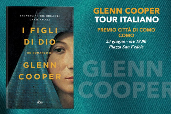 The writer Glenn Cooper guest at the City of Como Prize - 23 giugno 2018
