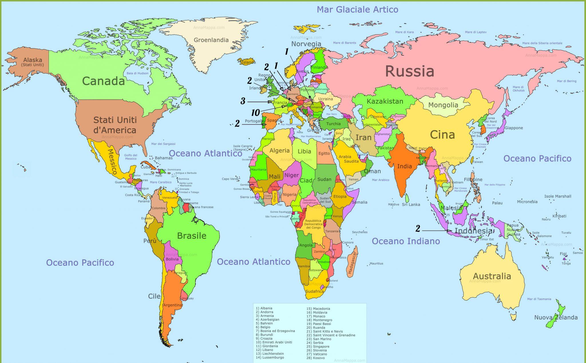 Cartina Mondo Con Nomi Stati.Map The World International Prize For Literature City Of Como