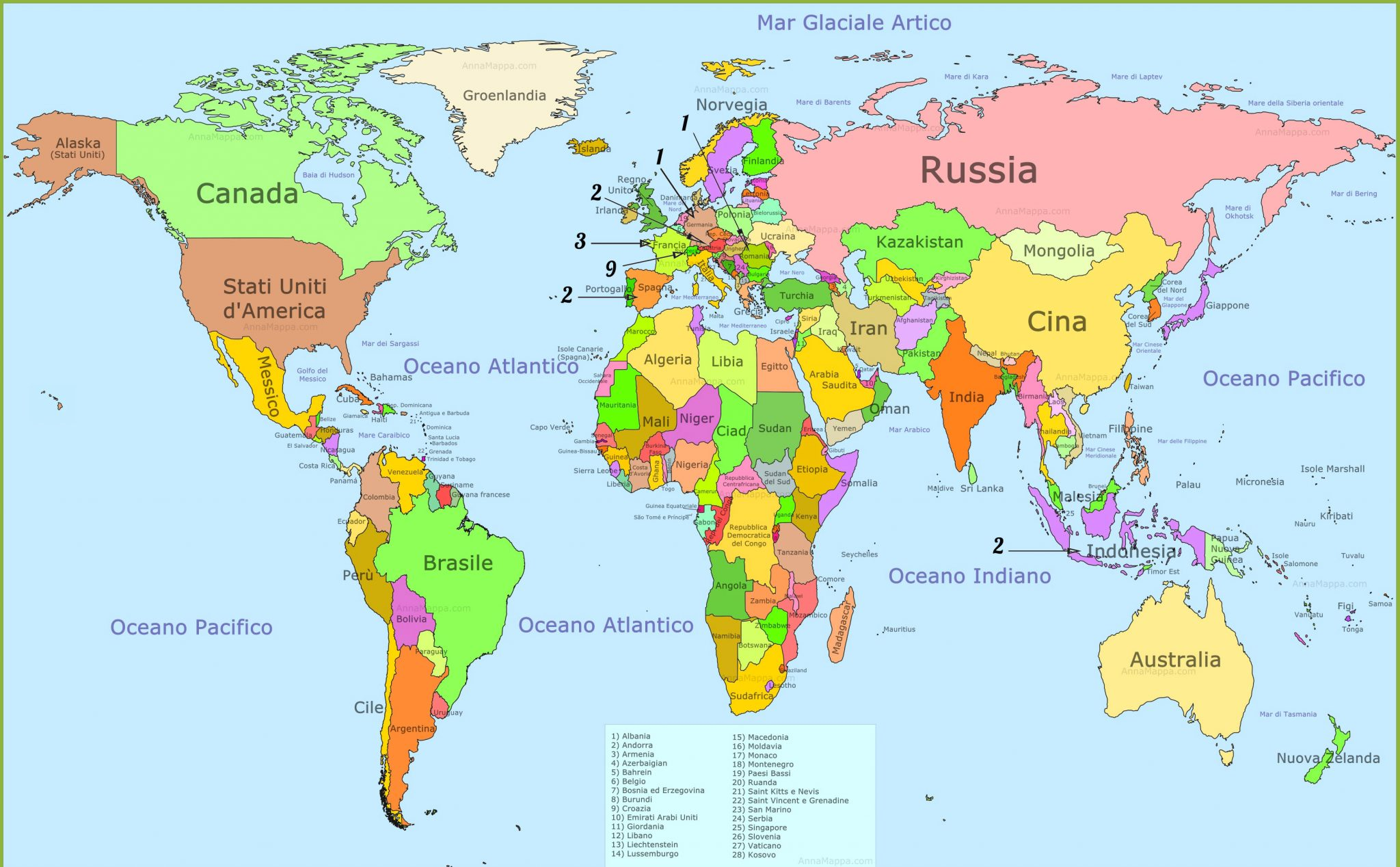 Mappa del mondo - Mappa del mondo contorno ks2 ...