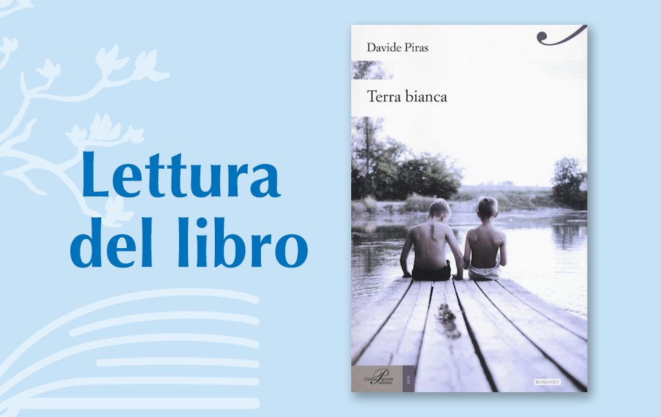 "Reading a book: ""Terra bianca"" Davide Piras. Published by Giulio Perrone. Edit Story, V Edition"