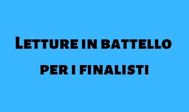 Letture in battello per i finalisti