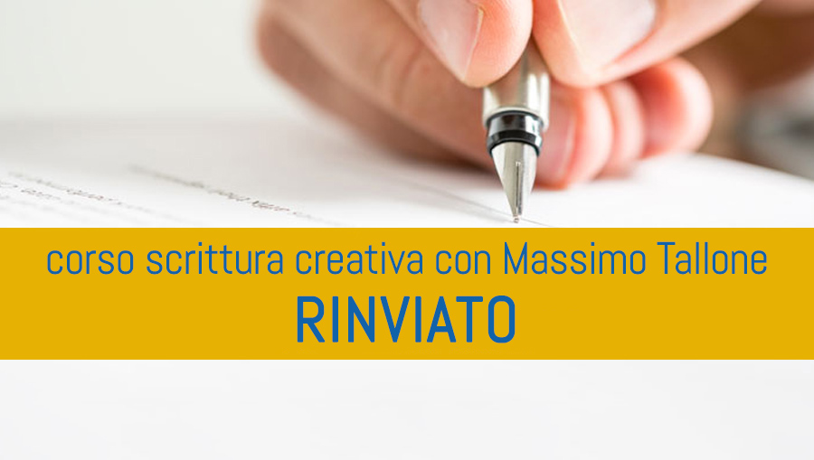 POSTPONED Course Creative Writing and Book Therapy with Massimo Heel